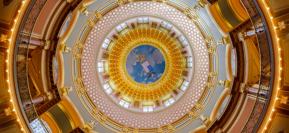 Iowa State Capitol inner dome
